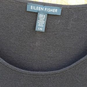 Eileen Fisher Chocolate Brown 100% Wool Tunic L